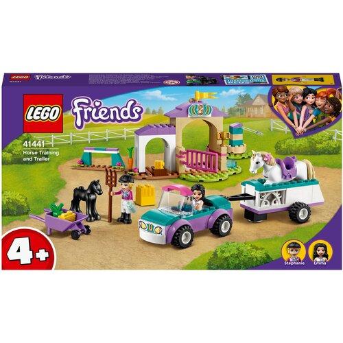 Купить Конструктор LEGO Friends 41441 Тренировка лошади и прицеп для перевозки, Конструкторы