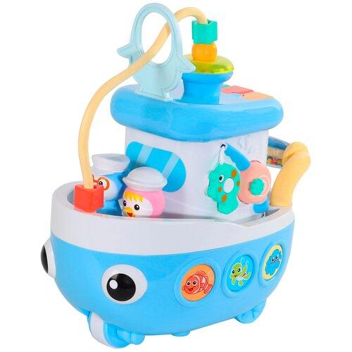 Купить Развивающая игрушка Smart Baby Корабль, голубой, Развивающие игрушки