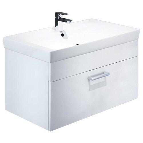 Тумба для ванной комнаты с раковиной IDDIS Mirro 60/80, ШхГхВ: 78.9х43.8х55.5 см, цвет: белый тумба для ванной комнаты с раковиной iddis cloud шхгхв 100 3х45 5х50 см цвет белый