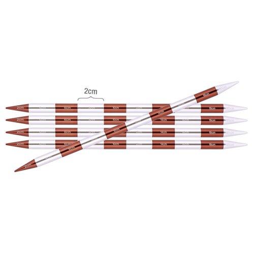 Купить Спицы Knit Pro SmartStix 42028, диаметр 3.75 мм, длина 20 см, серебристый/коричневый