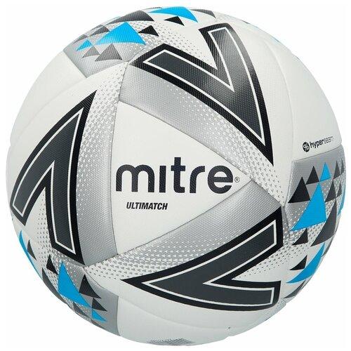 Мяч футбольный_MITRE_ULTIMATCH HP термосклейка L20P_5_бел/сер/син, шт