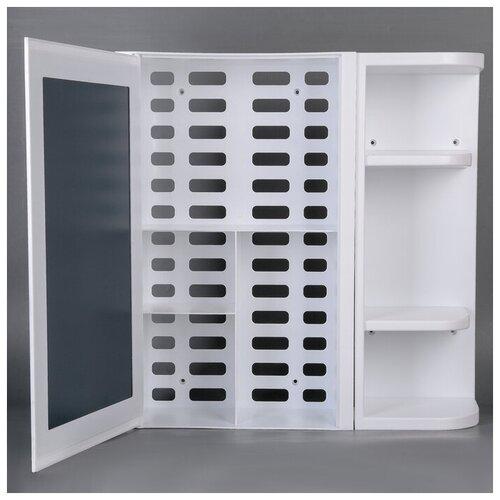 Шкаф для ванной BEROSSI ВК Hilton Universal НВ 334, (ШхГхВ): 54.4х14.6х55 см, снежно-белый