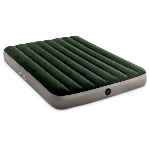 Фото - Надувной матрас Intex Prestige Downy Bed (64108) серый/зеленый надувной матрас intex twin dura beam prestige downy airbed 64107 серый черный