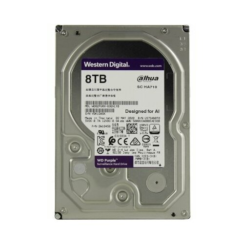 Жесткий диск Western Digital Purple 8 Тб WD82PURX SATA