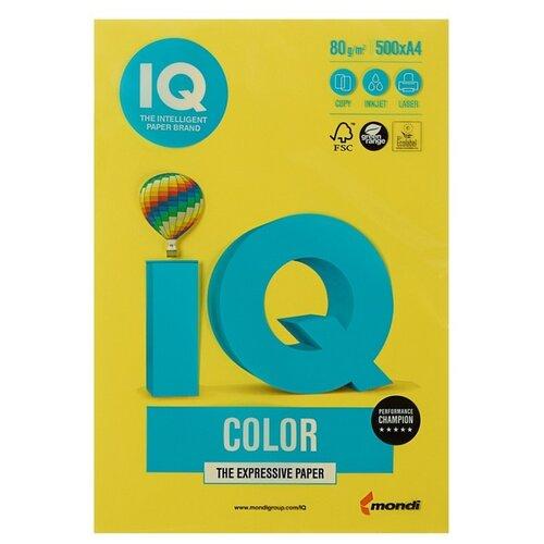Фото - Бумага цветная А4 500л IQ COLOR, 80г/м2, желтый, CY39 1520937 бумага цветная а4 500л iq color 80г м2 желтый zg34 1520958