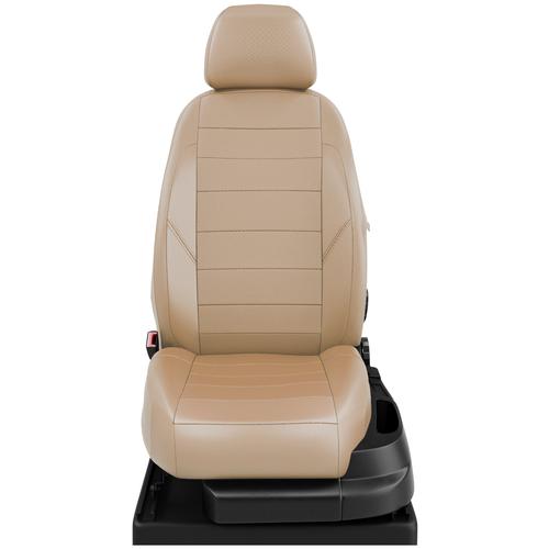 Авточехлы для Volkswagen Caddy с 2015-н.в. фургон 7 мест. TrendLine. Задние спинка и сиденье 40 на 60, третий ряд - двушка. Передний подлокотник, 7-подголовников (передние Активные) (Фольксваген Кадди).