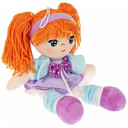 Фото - Кукла мягкая НИКА 26 см, оранжевые волосы Oly Bondibon мягкие игрушки bondibon кукла oly ника 26 см