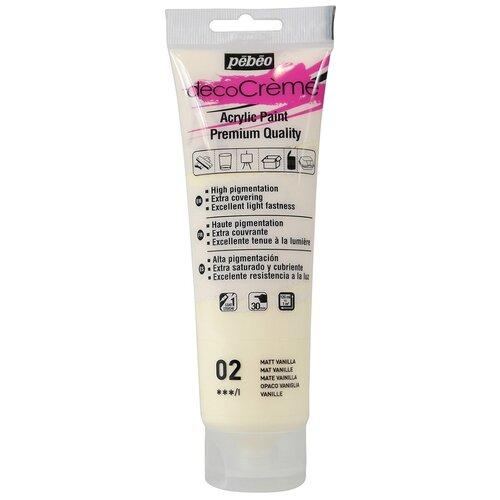 Купить Краска акриловая Pebeo кремовая, матовая, decoCreme, 120 мл, ванильный, Краски