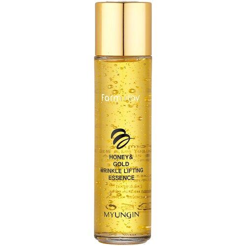 Купить Farmstay Honey & Gold Wrinkle Lifting Essence Лифтинг-эссенция для лица с экстрактом мёда и золотом, 150 мл