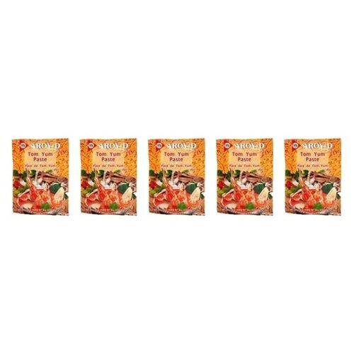 Aroy-D Паста Том Ям кисло-сладкая, 5 шт. по 50 г, 5 уп. паста чили с соевым маслом aroy d 260 г