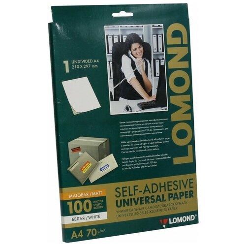Фото - Бумага Lomond A4 2100001 70 г/м2 100 лист., белый бумага canon zink zp 2030 3214c002 20 лист белый