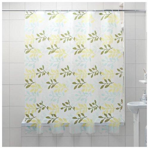Фото - Штора для ванной Золотая осень, 180х180 см 5430656 штора для ванной доляна графика 180х180 732658 синий