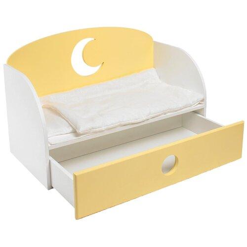 PAREMO Диван-кровать для кукол Луна (PFD120) желтый