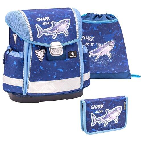Купить Ранец Belmil Classy - Shark-2, Акула, синий, с наполнением, Рюкзаки, ранцы