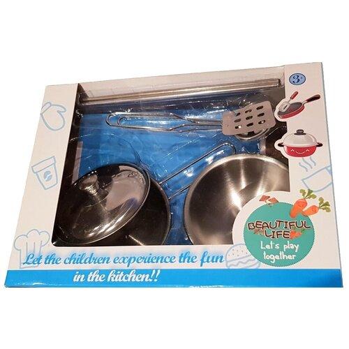 Фото - Детский набор посуды металлический, 6 предметов детский велосипед tong yue 2 3 6 8 12 14 16 18