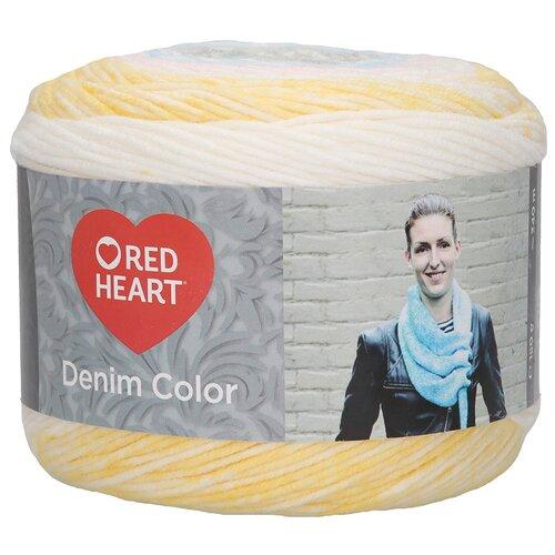 Купить Пряжа для вязания Red Heart 'Denim color' 150гр 340м (100% акрил) (00003 пастель) 3 мотка