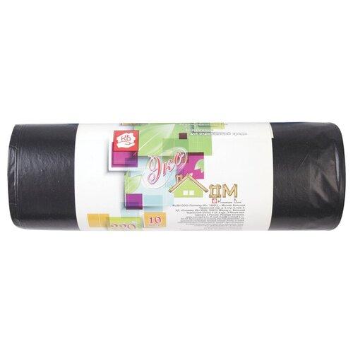 Мешки для мусора Концепция Быта Экодом 220 л, 10 шт., чёрный
