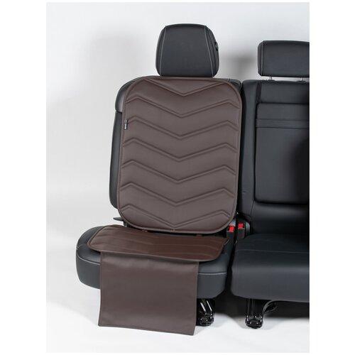 Чехлы (накидки) под автокресло. Защита сидений авто. Цвет: шоколадный. 1 шт. ФАВОРИТ