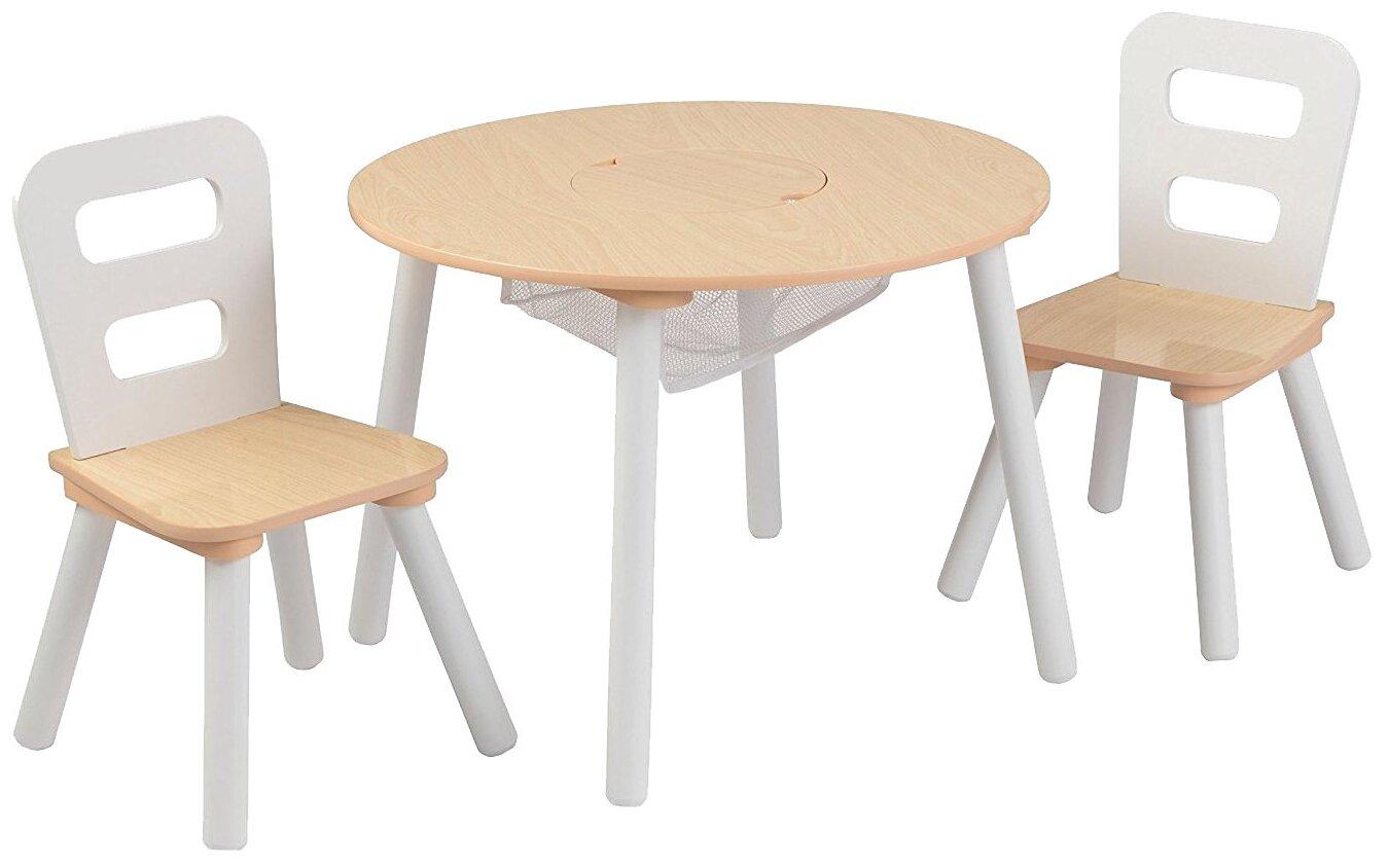 Комплект KidKraft круглый стол + 2 стула (26165_KE, 26166_KE, 27027_KE)