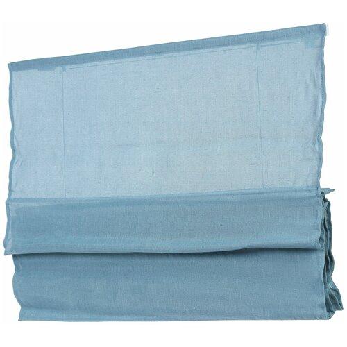 Фото - Римская штора Эскар Натур (синий), 60х160 см римская штора эскар линза синий 160х160 см