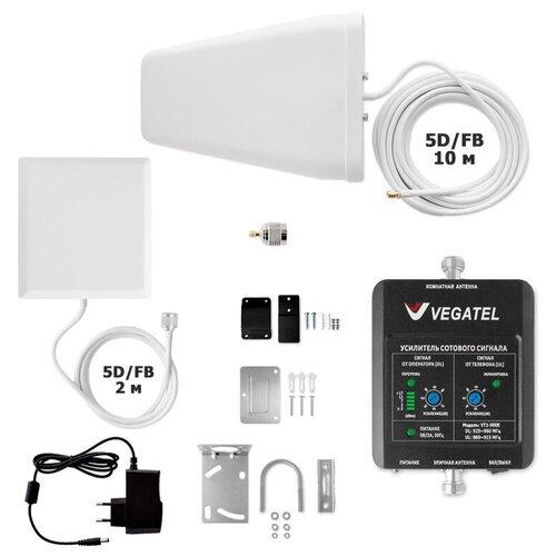 Комплект Усиления сотового сигнала (Репитер) 3G GSM 900Мгц VEGATEL VT1-900E-kit (дом, LED)