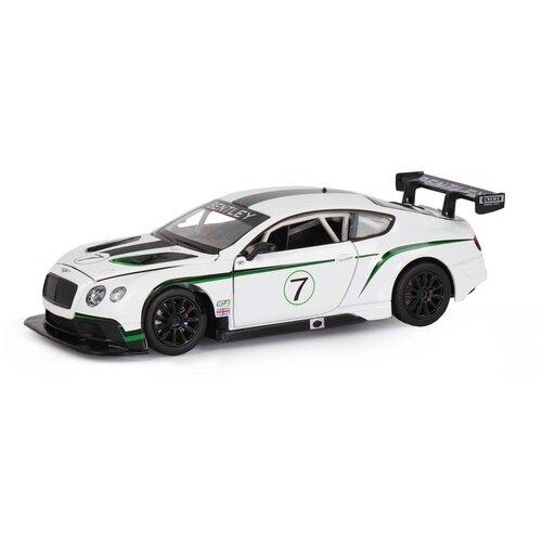 Купить Легковой автомобиль Автопанорама Bentley Continental GT3 Concept (JB1200125) 1:24, 19.8 см, белый, Машинки и техника