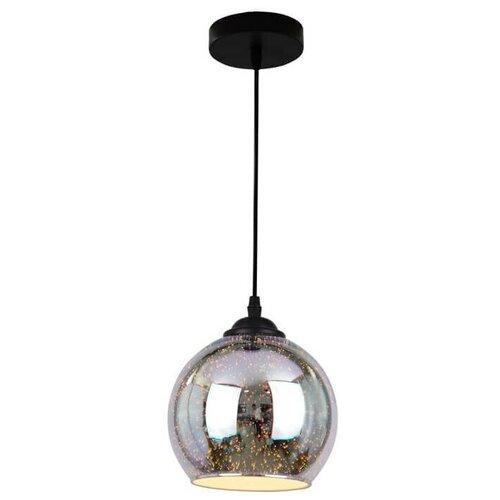 Потолочный светильник Arte Lamp Miraggio A3218SP-1BK, E27, 40 Вт, кол-во ламп: 1 шт., цвет арматуры: черный, цвет плафона: разноцветный