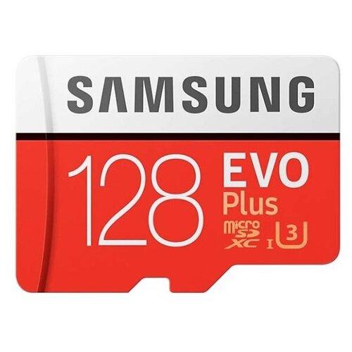 Карта памяти Samsung Micro SD 128 Гб (10 class) + SD адаптер