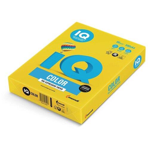 Фото - Бумага IQ Color A4 80 г/м² 500 лист., горчичный IG50 бумага iq color a4 80 г м² 250 лист 5 цв х 50 л тренд rb03