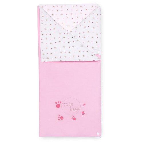 Купить Конверт-одеяло Kidboo Cute Bear 90 см розовый, Конверты и спальные мешки