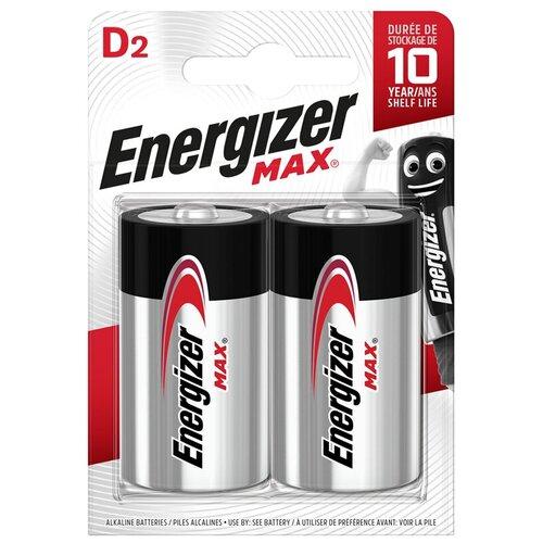 Фото - Батарейка Energizer Max D (LR20) алкалиновая, 2BL батарейка d щелочная perfeo lr20 2bl super alkaline 2 шт