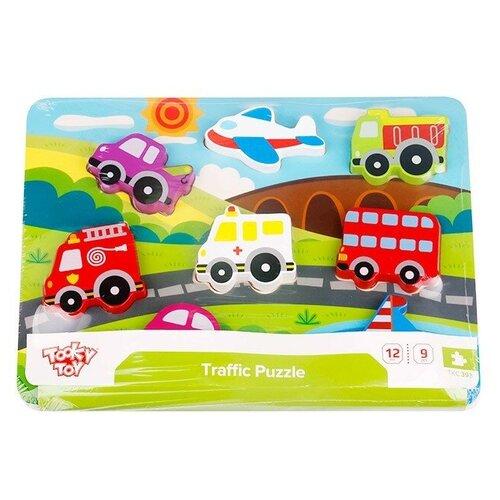 Купить Рамка-вкладыш Tooky Toy Транспорт (TKC393), 8 дет., Пазлы