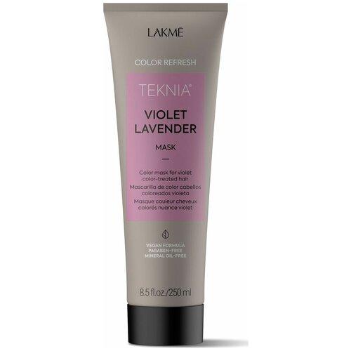 Фото - Lakme Teknia Refresh Violet Lavender Маска для обновления цвета фиолетовых оттенков волос, 250 мл lakme дорожный набор восстанавливающий шампунь 100 мл кондиционер 100 мл маска 50 мл lakme teknia