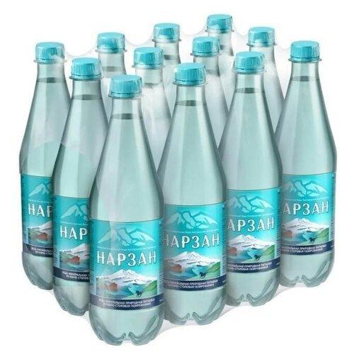 Вода минеральная Холдинг Аква Нарзан газированная, ПЭТ, 12 шт. по 0.5 л