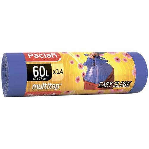 Фото - Мешки для мусора Paclan Multitop Aroma 60 л, 14 шт., фиолетовый мешки для мусора ароматизированные 35 л ушки желтые 20 шт пвд 66х50 см paclan multitop aroma 136881