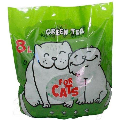 Фото - Впитывающий наполнитель For Cats с ароматом зеленого чая (8 л) 8 л впитывающий наполнитель for cats с ароматом зеленого чая 4 л