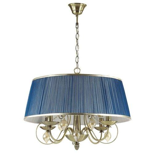 Люстра Odeon Light Niagara 3921/4, E14, 160 Вт, кол-во ламп: 4 шт., цвет арматуры: бронзовый, цвет плафона: синий