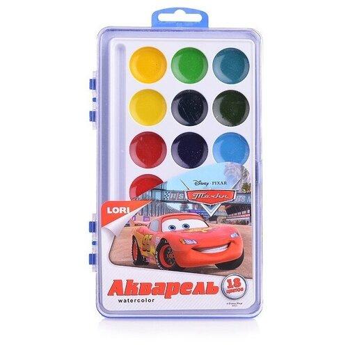 Купить LORI Акварельные краски Тачки 18 цветов без кисти (Акд-006), Краски