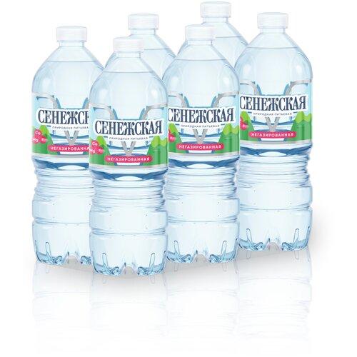 Вода питьевая Сенежская негазированная, ПЭТ, 6 шт. по 1 л вода минеральная сенежская негазированная пэт 1 5 л