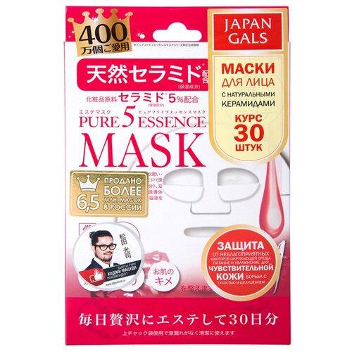 Japan Gals маска Pure 5 Essence с натуральными керамидами, 30 шт. недорого