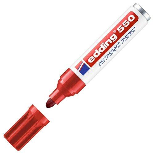 Фото - Маркер перманентный EDDING 550/2 красный 3-4 мм круглый наконечник маркер перманентный edding зеленый 3 4 мм круглый наконечник