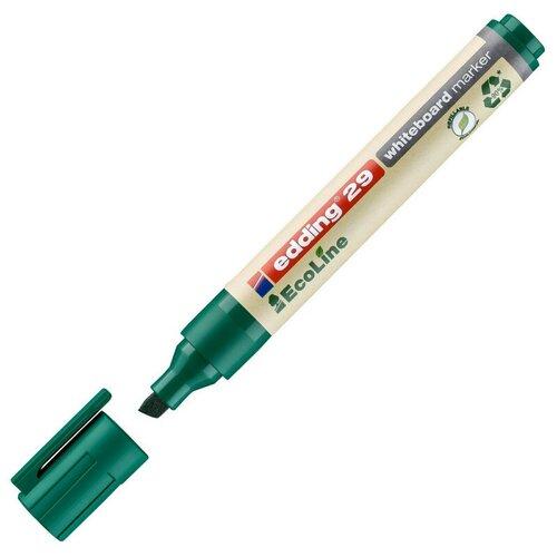 Купить Маркер для досок EDDING 29/4 Ecoline, 1-5 мм, зеленый, скош. наконеч 2 штуки, Маркеры