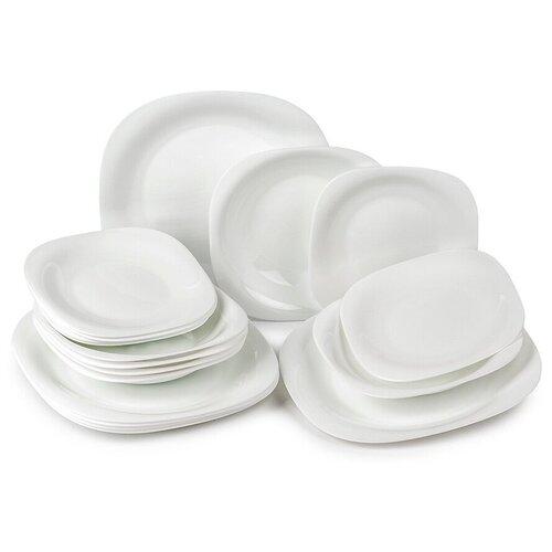 Столовый сервиз Luminarc Carine White, 6 персон, 18 предм., белый столовый сервиз luminarc carine beatitude n2250 6 персон белый