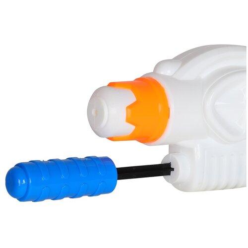 Купить Водное оружие для детей, водяной бластер, водяной пистолет, для игры с водой, для летних игр на улице, детская игрушка, для мальчиков, для девочек, пластиковый, бело-зеленый, в/п 30*23 см, Компания Друзей, Игрушечное оружие и бластеры