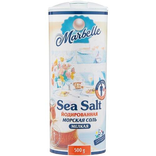 setra соль морская мелкая йодированная с пониженным содержанием натрия 500 г Marbelle Соль морская, йодированная, мелкая, 500 г