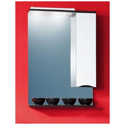 Зеркало для ванной Токио 60 Венге / белый глянец тумба под раковину бриклаер токио 60 венге белый глянец