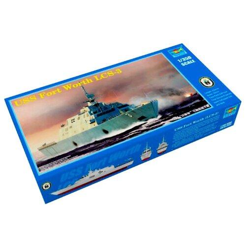 Сборная модель Trumpeter USS Fort Worth LCS-3 (04553) 1:350 artwox trumpeter 05607 u s cv 3 saratoga aircraft carrier wooden deck aw10120