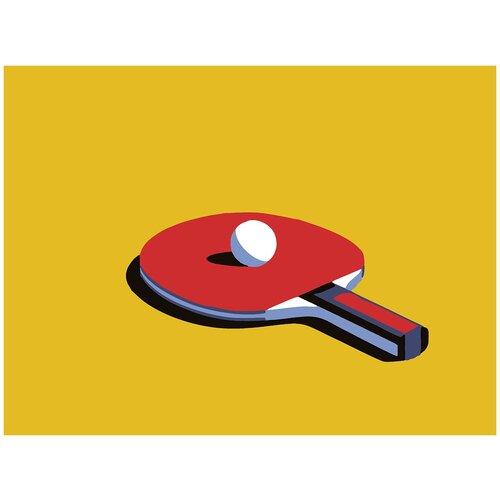 Купить Картина по номерам Минимализм - Пинг Понг, 80 х 100 см, Красиво Красим, Картины по номерам и контурам
