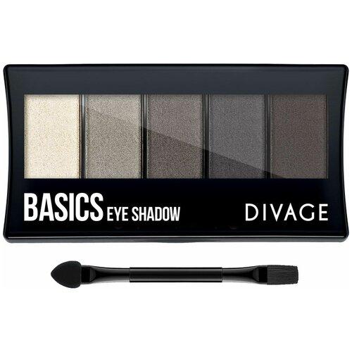 DIVAGE Палетка теней Palettes Eye Shadow basics sleek makeup quattro eye shadow medussa s kiss палетка теней тон 331