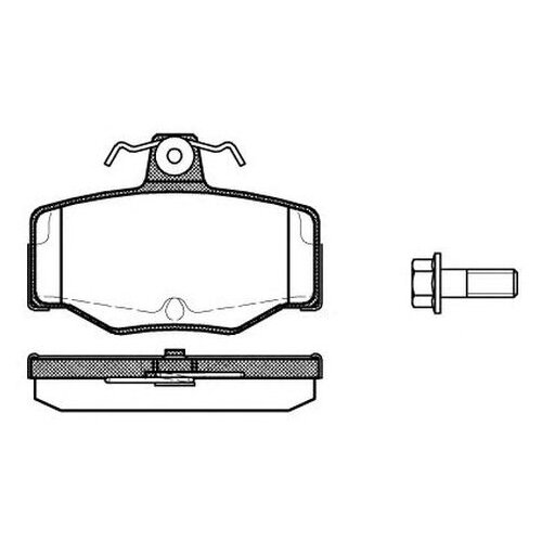 Комплект тормозных колодок Roadhouse 2343.00 для Nissan Almera II, Almera Tino, Primera